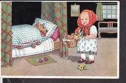 Postkarte Puppenmärchen Rotkäppchen  1930 - Fairy Tales, Popular Stories & Legends