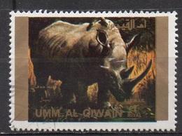 UMM AL QIWAIN N° 1373A O MI 1972 Faune (Rhinoceros) Grand Format - Umm Al-Qiwain