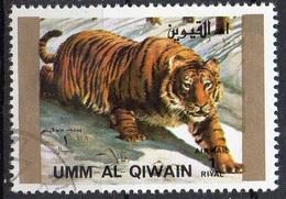 UMM AL QIWAIN N° 1381A O MI 1972 Faune (Tigre) Grand Format - Umm Al-Qiwain