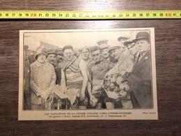 ANNEES 20/30 LES VAINQUEURS DE LA COURSE CYCLISTE PARIS AVESNES FOURMIES LEBLANC BARTHELEMY VANDERHAEGEN - Collections