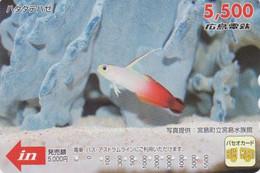 Carte Prépayée Japon - Animal - POISSON ROUGE - GOLD FISH Japan Prepaid Card - FISCH Karte - FR 349 - Fish