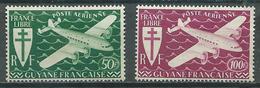 Guyane Poste Aérienne YT N°26/27 Série De Londres Neuf/charnière * - Guyane Française (1886-1949)