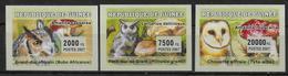 GUINEE   N° 2915/17  * *  NON DENTELE  Hiboux Chouette Champignons - Hiboux & Chouettes