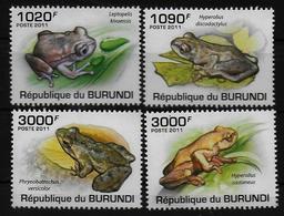 BURUNDI  N°  1217/20  * *  ( Cote 18e )  Grenouilles - Grenouilles