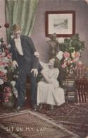 Romantic Couple Sit On My Lap 1910 - Couples