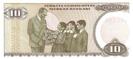 TURKEY P. 193 10 L 1970 UNC - Turquie