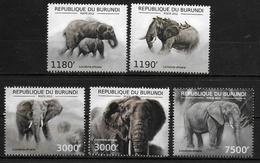 BURUNDI N° 1782/85  BF 285  * *  ( Cote 19e ) Elephants - Eléphants