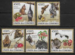 COMORES  N° 1646/50 * *  ( Cote 16e )  Chauve Souris Fruits - Chauve-souris