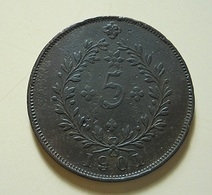 Portugal Açores 5 Reis 1901 - Portugal