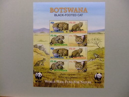 BOTSWANA 2005 WWF Protection De La Nature Fauna Faune Le Chat Sauvage Yvert Bloc 40 ** MNH - W.W.F.