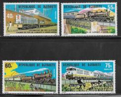 Djibouti Scott # 485-8 MNH Railroad Scenes, 1979 - Djibouti (1977-...)