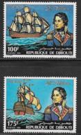 Djibouti Scott # 531-2 MNH Lord Nelson, Ships, 1981 - Djibouti (1977-...)