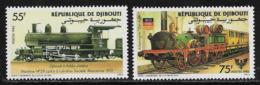 Djibouti Scott # 597-8 MNH Locomotives, 1985 - Djibouti (1977-...)