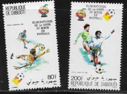 Djibouti Scott # C141-2 MNH Soccer Players, 1981 - Djibouti (1977-...)