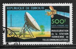 Djibouti Scott # C137 Used Satellite Earth Station, 1980 - Djibouti (1977-...)