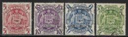 Australia, Scott # 218-21 Used Arms Of Australia, 1949-50 - 1937-52 George VI