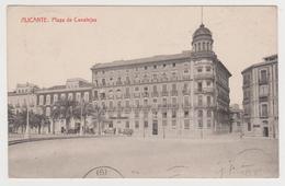 [1063] ALICANTE. Plaza De Canalejas. Circulada A Barcelona En 1918. Circulée En 1918. Posted In 1918. Viaggiata Nel 1918 - Alicante