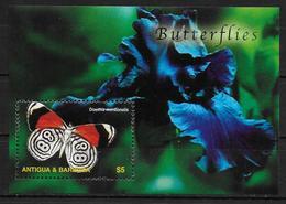ANTIGUA  BF 575 * *  ( Cote 7e ) Papillons - Papillons