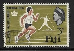 Fiji Scott # 226 Used Woman Runner, 1966 - Fiji (...-1970)
