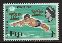 Fiji Scott # 228 Mint Hinged Diver, 1966 - Fiji (...-1970)