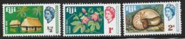 Fiji Scott # 240-2 Mint Hinged Bure, Flower,Seashell, 1968 - Fiji (...-1970)