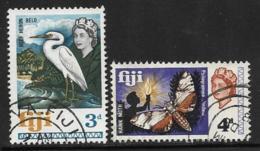 Fiji Scott # 243-4 Used  Bird, Moth, 1968 - Fiji (...-1970)