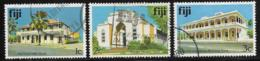 Fiji Scott # 409-11 Used Suva Buildings, 1979 - Fidji (1970-...)