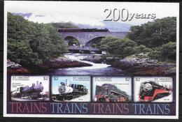 SAINT VINCENT Feuillet   N° 4823 N/R  * *  ( Cote 12e ) Trains A Vapeur - Trains