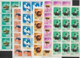 KOREA NORTH - 1979 Zoo Birds Sheets Of 12. Scott 1858-1863. Cancelled To Order. Shipping E6.50 - Corée Du Nord