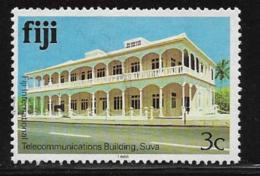 Fiji Scott # 411h Used Telecommunications Building,1988 - Fiji (1970-...)