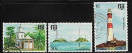 Fiji Scott # 421-3 Used Various Subjects,1980 - Fidji (1970-...)