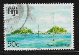 Fiji Scott # 422j Used Serua Island Village,1991 - Fidji (1970-...)