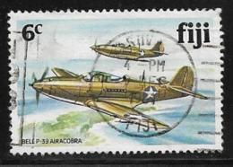 Fiji Scott # 454 Used P-39 Aircraft,1981 - Fiji (1970-...)