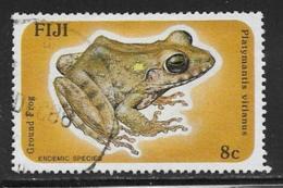 Fiji Scott # 554 Used Ground Frog,1986 - Fiji (1970-...)
