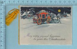 Carte De Noël - N'a Pas Servie, Carte Pliante De Qualité Made In Germany, Diligence, Cheveaux - Saisons & Fêtes