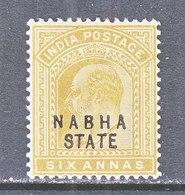BRITISH  INDIA  NABHA  STATE  33  **   EDWARD  VII   Wmk.. STAR - India (...-1947)