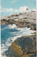 Canada Nova Scotia Breakers At Peggy's Cove With Lighthouse - Nova Scotia
