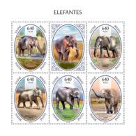Guinea Bissau  2018  Elephants Fauna    S201811 - Guinea-Bissau