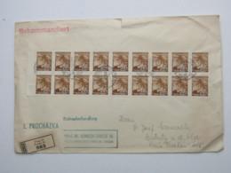 1941 , 20 H. , 18 Mal Auf Einschreiben Aus Prag , Seltene Massenfrankatur, Randrisschen - Bohême & Moravie