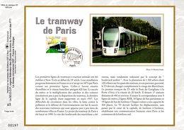 """"""" LE TRAMWAY DE PARIS """" Sur Feuillet CEF 1er Jour N°té En Soie De 2006. N° 1863s. N° YT 3995 Parfait état. - Tramways"""