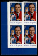 USA, 2018, 5275,Mister Rogers, Plate Block LL, Forever, MNH, VF - Unused Stamps