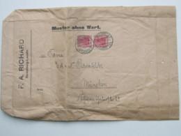 1920 , 10 Pfg. Germania (2) Auf  Muster Ohne Wert , Seltenes Porto - Deutschland
