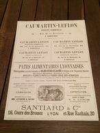 CAUMARTIN LEFLON à ABBEVILLE Usine SANTIARD à LYON Macaron De BEAUMONT BELGIQUE Usine à Saint Brice JAVOUHEY à CHARTRES - France