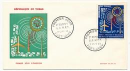 TCHAD => Enveloppe FDC - 2eme Anniversaire De L'U.A.M.P.T - 8 Septembre 1963 - Fort Lamy - Tschad (1960-...)