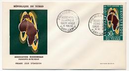 TCHAD => Enveloppe FDC - Association Economique Europe Afrique - 30 Nov 1960 - Fort Lamy - Tschad (1960-...)