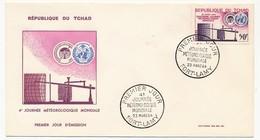 TCHAD => Enveloppe FDC - 4eme Journée Météorologique Mondiale - 23 Mars 1964 - Fort Lamy - Tschad (1960-...)