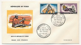 TCHAD => 2 Enveloppes FDC - Arts Et Métiers Du Tchad - 5 Février 1964 - Fort Lamy - Chad (1960-...)