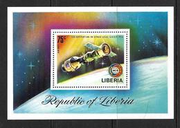 LIBERIA 1978 APOLLO-SOYOUZ YVERT N°B77  NEUF MNH** - Space
