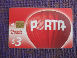 Chip Phonecard,hot Ballon Of Porta Logo,used With A Scratch Line - Ecuador