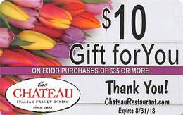 Chateau Italian Family Dining $10 Gift Card - Gift Cards